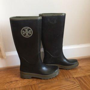 Tory Burch Tall Rubber Rain Boots